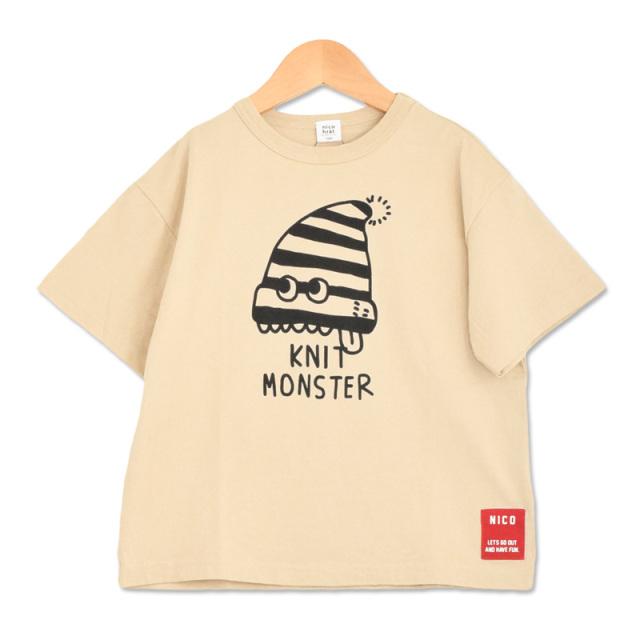 br-20sp-200104_BE ニットモンスター Tシャツ [BE.ベージュ] 【nico hrat】【春夏物】