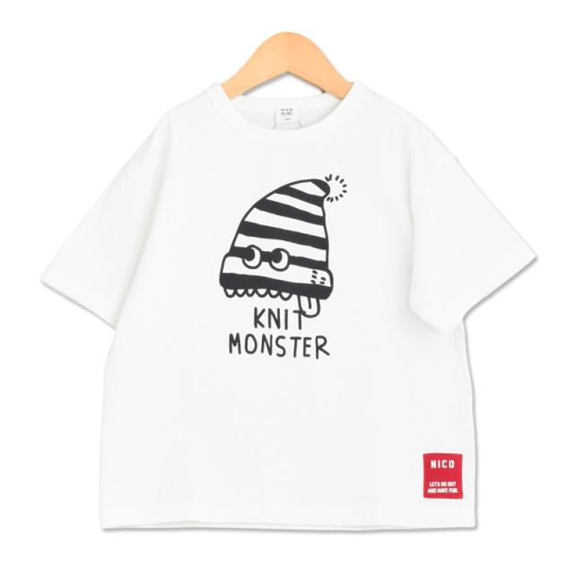 br-20sp-200104_OW ニットモンスター Tシャツ [OW.オフホワイト] 【nico hrat】【春夏物】