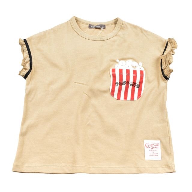 br-20sp-200108_BE ポップコーン Tシャツ [BE.ベージュ] 【nico hrat】【春夏物】