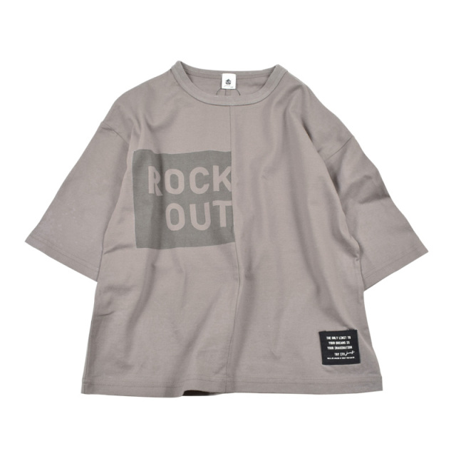 br-20sm-300144_CG 切り替え ビッグTシャツ [CG.チャコールグレー] 【Jeans-b】【夏物】