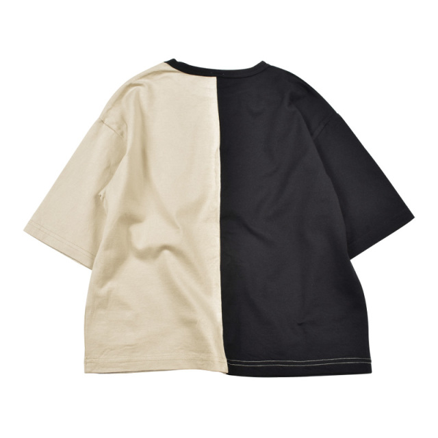 br-20sm-300144_SD 切り替え ビッグTシャツ [SD.サンドベージュ] 【Jeans-b】【夏物】