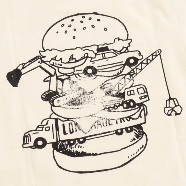 br-20sp-800103_OB BURGER Tシャツ [OB.オフベージュ] 【Jeans-b 2nd】【春夏物】