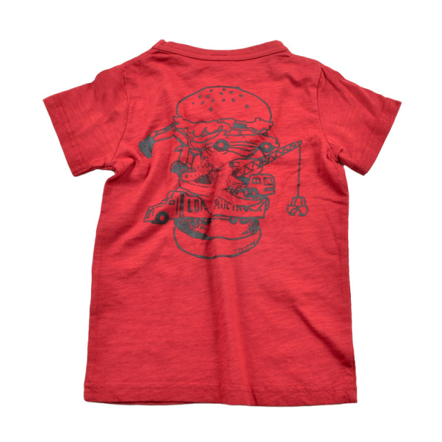 br-20sp-800103_RE BURGER Tシャツ [RE.レッド] 【Jeans-b 2nd】【春夏物】