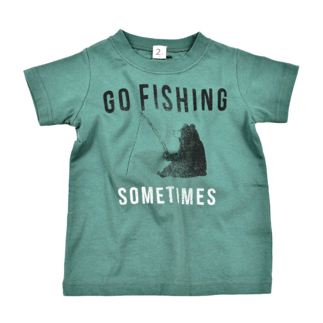 br-20sm-800132_GN go fishing Tシャツ [GN.グリーン] 【Jeans-b 2nd】【夏物】