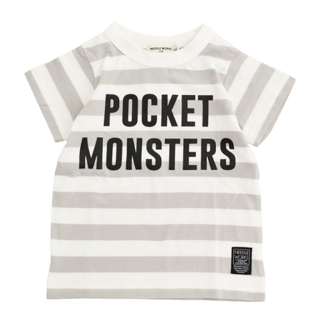 nw-21SP-2121701_G.BORDER Pm Logo Tシャツ [グレーボーダー] 【NEEDLE WORKS】【21年春物】