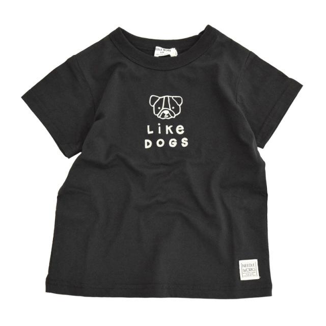 nw-21SP-2121804_BLACK Dog Tシャツ [ブラック] 【NEEDLE WORKS】【21年春物】