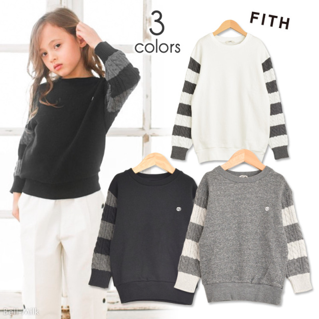 ft-19AW-298411 ドアマウラケ ソデボーダーL/Sスウェット 【FITH】【19AW】