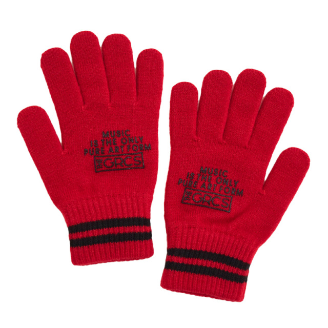 ft-19AW-4798007_5 GRCS KNIT GLOVES [5.レッド] 【GROOVY COLORS】【19AW】