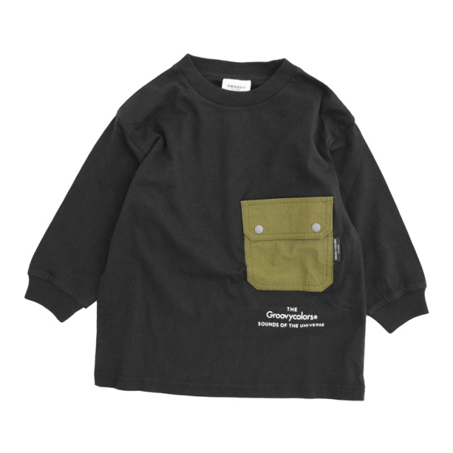 ft-20aw-1608452_2 テンジク L/S POCKET BIG TEE [2.ブラック] GROOVY COLORS 【20AW】