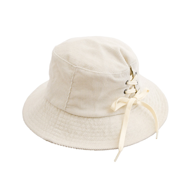 ft-20aw-1408008_1 レースアップ バケット HAT [1.ホワイト] Go to Hollywood 【20AW】