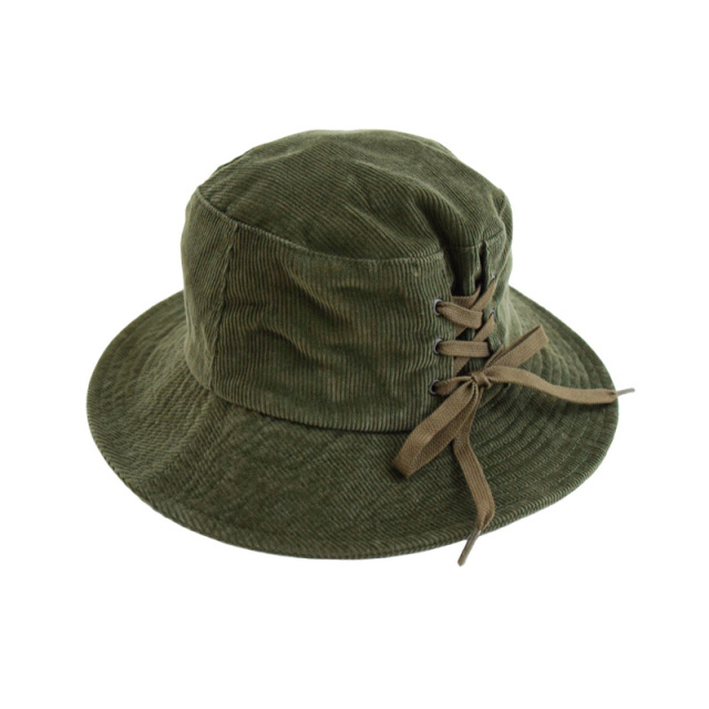 ft-20aw-1408008_9 レースアップ バケット HAT [9.カーキ] Go to Hollywood 【20AW】