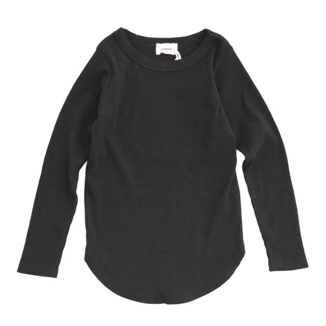 gene-21fw-711403_BK リブロングTシャツ [BK.ブラック] 【undeny.】【21年秋冬】