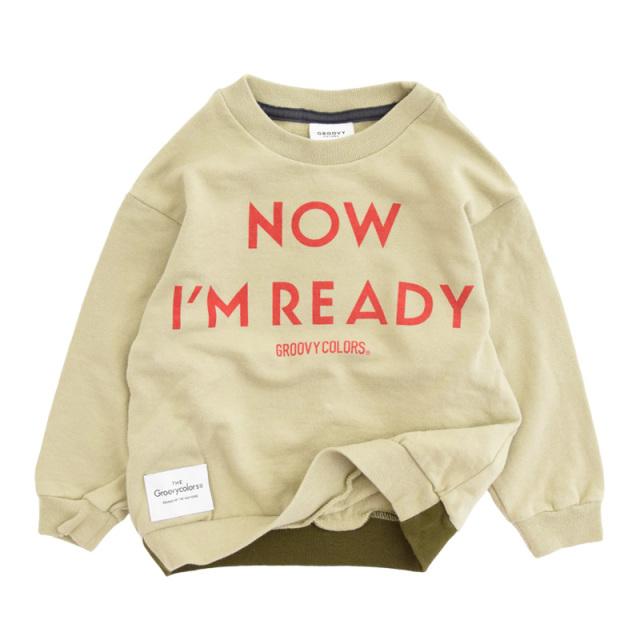 ft-20aw-1608418_16 ソフトウラケ I AM READY スウェット [16.ベージュ] 【20AW】