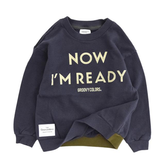 ft-20aw-1608418_4 ソフトウラケ I AM READY スウェット [4.ネイビー] 【20AW】