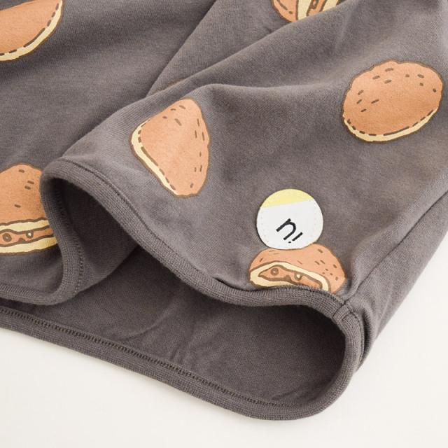 br-21aw-210263_CG カレーパン ロングTシャツ [CG.チャコールグレー] 【nico hrat】【21年秋冬】