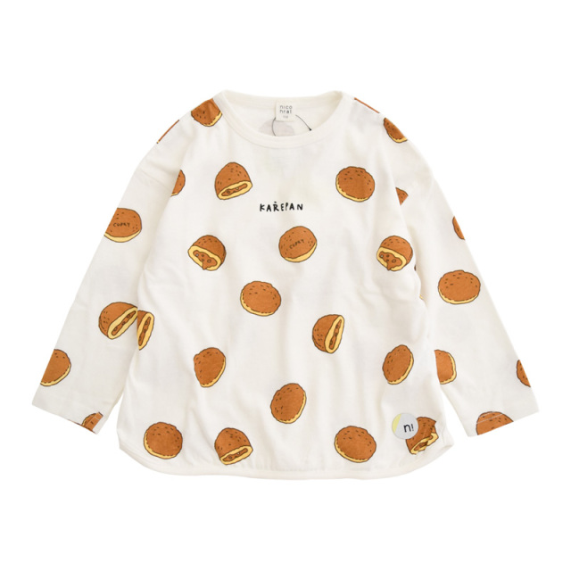 br-21aw-210263_OW カレーパン ロングTシャツ [OW.オフホワイト] 【nico hrat】【21年秋冬】