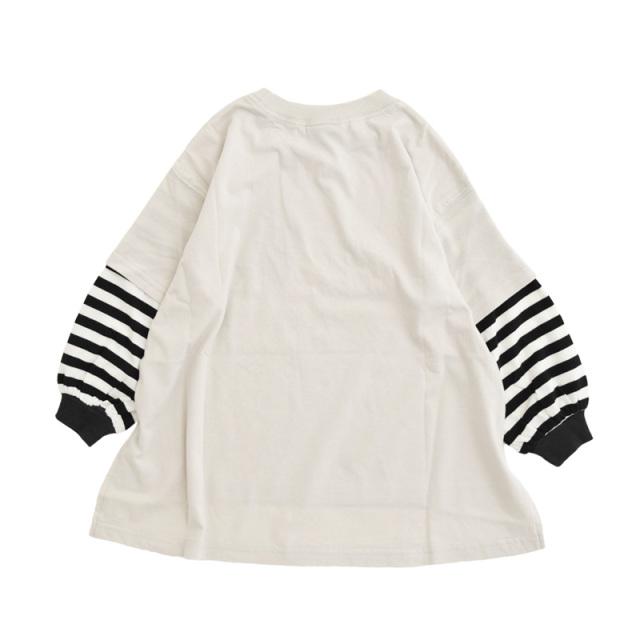 nw-21aw-2221208_ICE GREY Big Layered Tシャツ [アイスグレー] 【NEEDLE WORKS】【21年秋冬物】