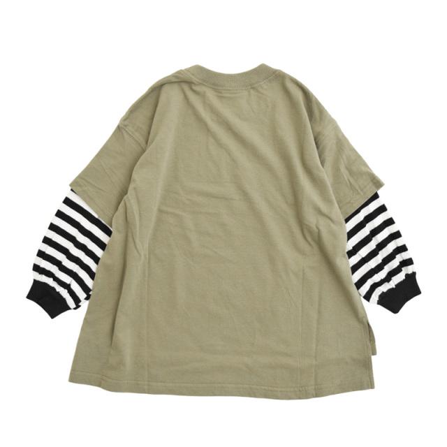 nw-21aw-2221208_KHAKI Big Layered Tシャツ [カーキ] 【NEEDLE WORKS】【21年秋冬物】
