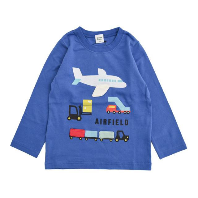 br-21aw-410265_BL 貨物 ロングTシャツ [BL.ブルー] 【CHEEK ROOM】【知育服】【21年秋冬】