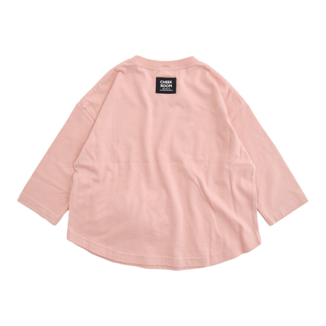 br-21aw-410273_PK キャンディラウンド ロングTシャツ [PK.ピンク] 【CHEEK ROOM】【知育服】【21年秋冬】