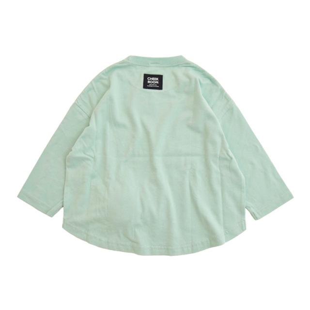 br-21aw-410273_SA キャンディラウンド ロングTシャツ [SA.サックス] 【CHEEK ROOM】【知育服】【21年秋冬】
