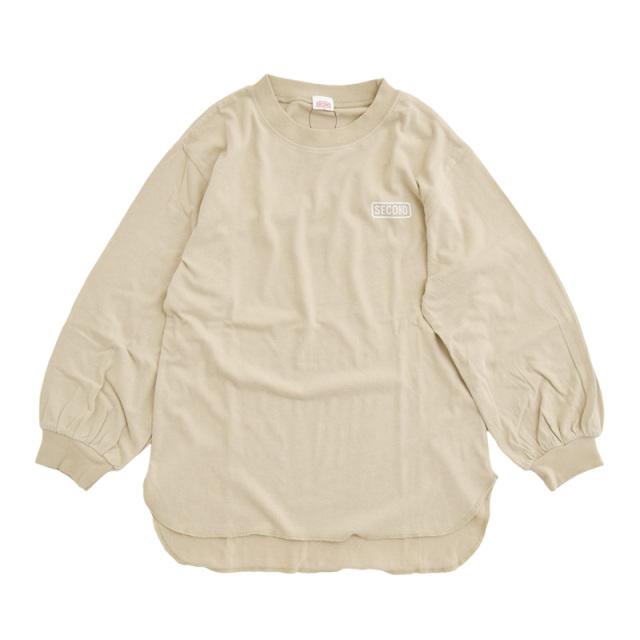 br-21aw-810268_BE ボリュームパフ袖 ロングTシャツ [BE.ベージュ] 【Jeans-b 2nd】【21年秋冬】