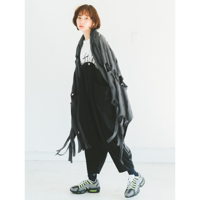 nnf-37-nf16-626_BK サルエルサロペット [ブラック] 【nunuforme】【日本製】【21年秋冬】