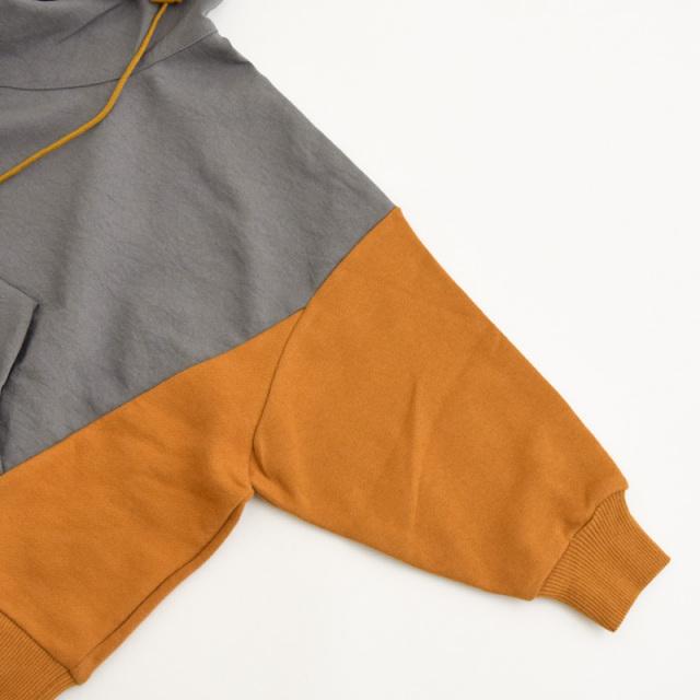 nnf-49-nf16-965_GrayOr ミックスパーカー [グレー×オレンジ] 【nunuforme】【日本製】【21年秋冬】