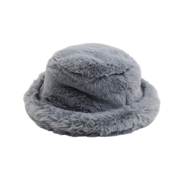 nnf-furhat_GR fur hat [グレー] 【nunuforme】【21年秋冬】