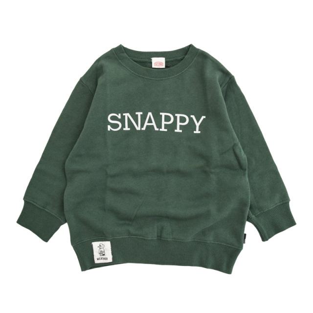 br-20aw-800366_GN SNAPPY トレーナー [GN.グリーン] 【Jeans-b 2nd】【秋冬物】