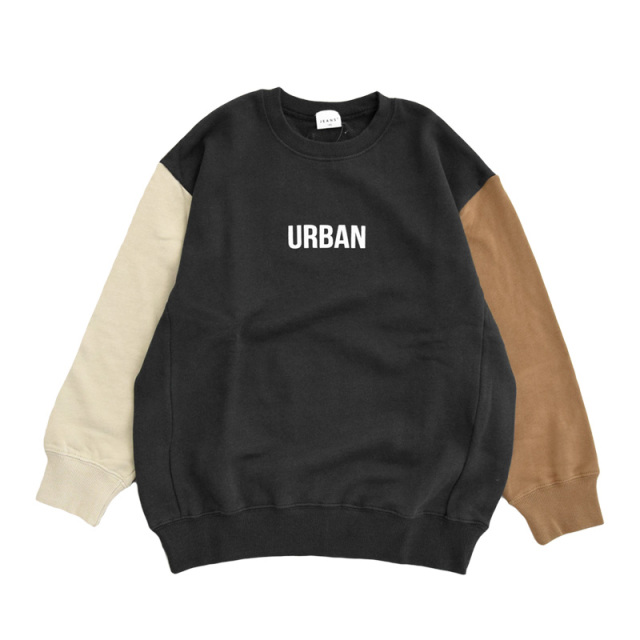 br-21aw-310366_BK URBAN ビッグトレーナー [BK.ブラック] 【Jeans-b】【21年秋冬物】