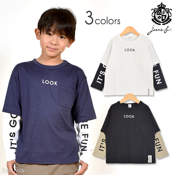 br-19aw-390264 JEANS-b LOOK ロンT【ジーンズベー】【秋冬】【アメカジ】