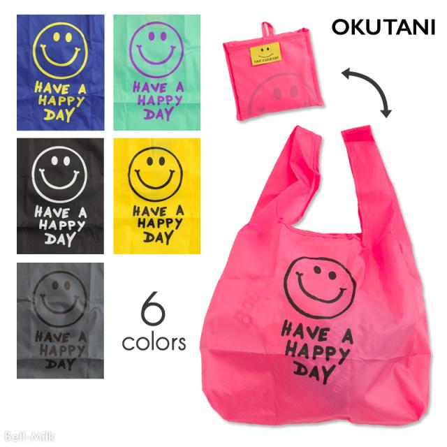 oktn-ECO_bag01 オクタニ SMILEエコバッグ【折り畳み】【おもしろ雑貨】