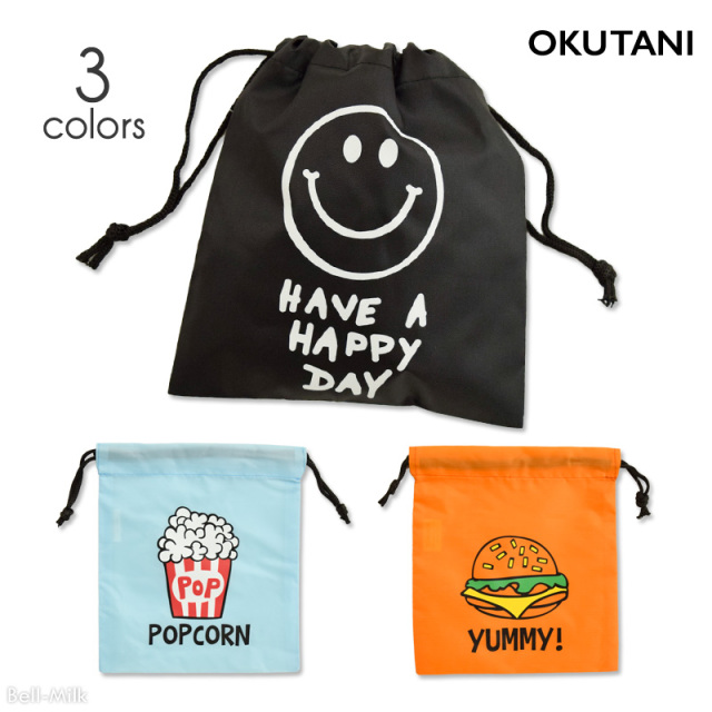 oktn-Kinchaku オクタニ プリント巾着【おもしろ雑貨】