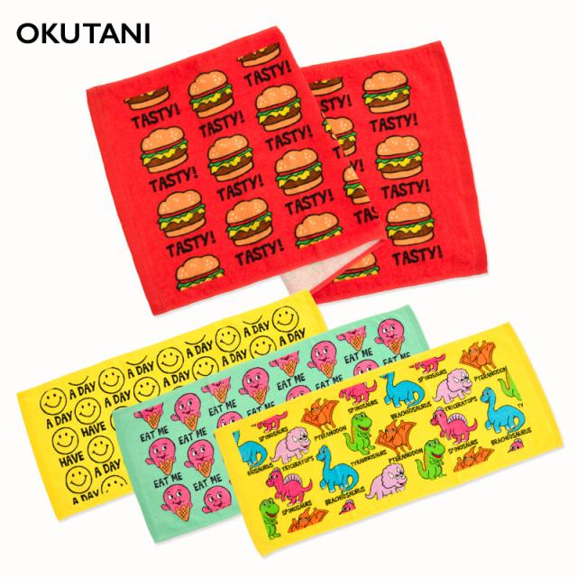 oktn-Long_Towel02 オクタニ プリントロングタオル【スポーツタオル】【おもしろ雑貨】