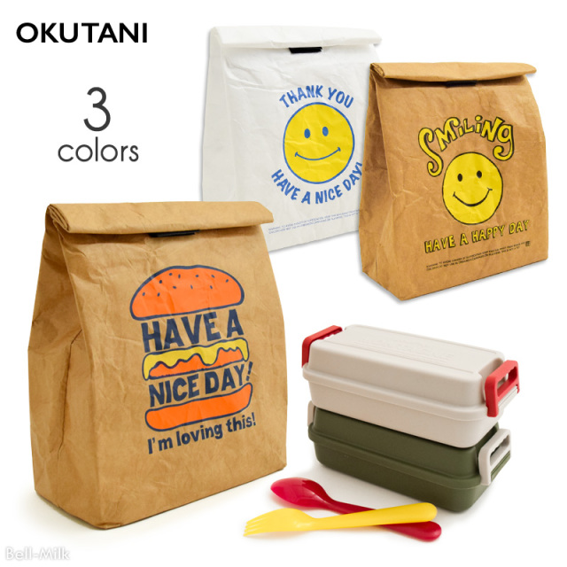 oktn-Lunch_bag オクタニ 紙袋風 保冷ランチバッグ【おもしろ雑貨】
