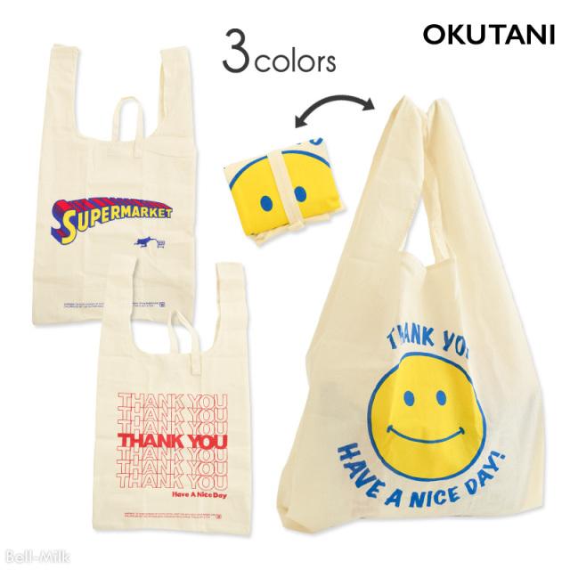 oktn-Marche_bag オクタニ コットンマルシェバッグ【折り畳み】【おもしろ雑貨】