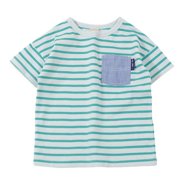 dil-DL20ES020_GN 先染めボーダー天竺 半袖Tシャツ [GN.グリーン] 【DILASH】【夏物】