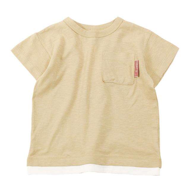 dil-DL20ES021_BE スラブ天竺 半袖Tシャツ [BE.ベージュ] 【DILASH】【夏物】