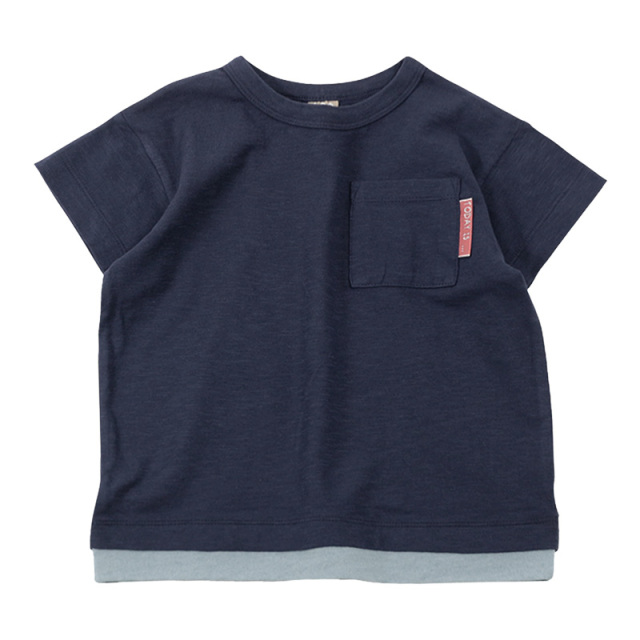 dil-DL20ES021_NB スラブ天竺 半袖Tシャツ [NB.ネイビー] 【DILASH】【夏物】