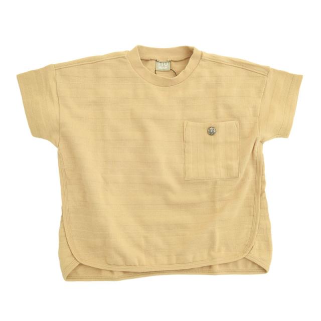dil-DL20ES024_BE メッシュボーダー 半袖Tシャツ [BE.ベージュ] 【DILASH】【夏物】