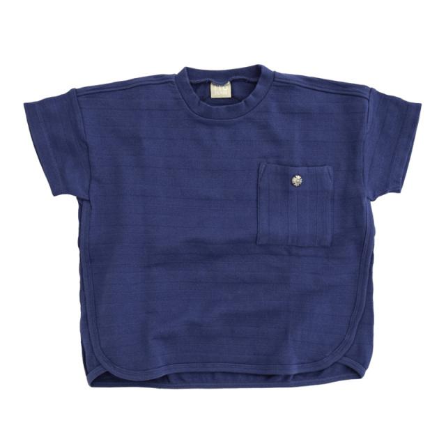 dil-DL20ES024_BU メッシュボーダー 半袖Tシャツ [BU.ブルー] 【DILASH】【夏物】