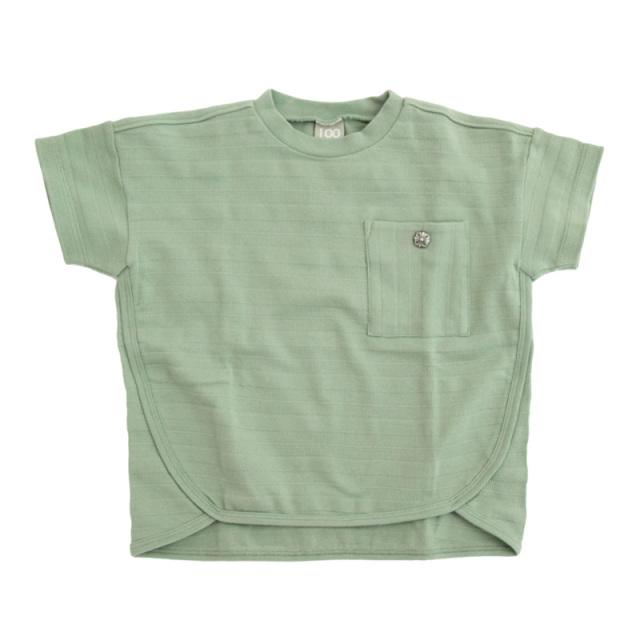 dil-DL20ES024_KK メッシュボーダー 半袖Tシャツ [KK.カーキ] 【DILASH】【夏物】
