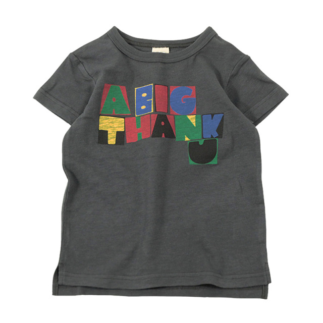 dil-DL20ES025_CH THANK U 半袖Tシャツ [CH.チャコール] 【DILASH】【夏物】