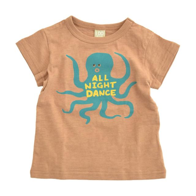 dil-DL20ES026_BN ダンスオクトパス 半袖Tシャツ [BN.ブラウン] 【DILASH】【夏物】