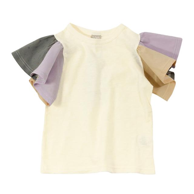 dil-DL20ES034_OW 切り替えフレアスリーブ 半袖Tシャツ [OW.オフホワイト] 【DILASH】【夏物】