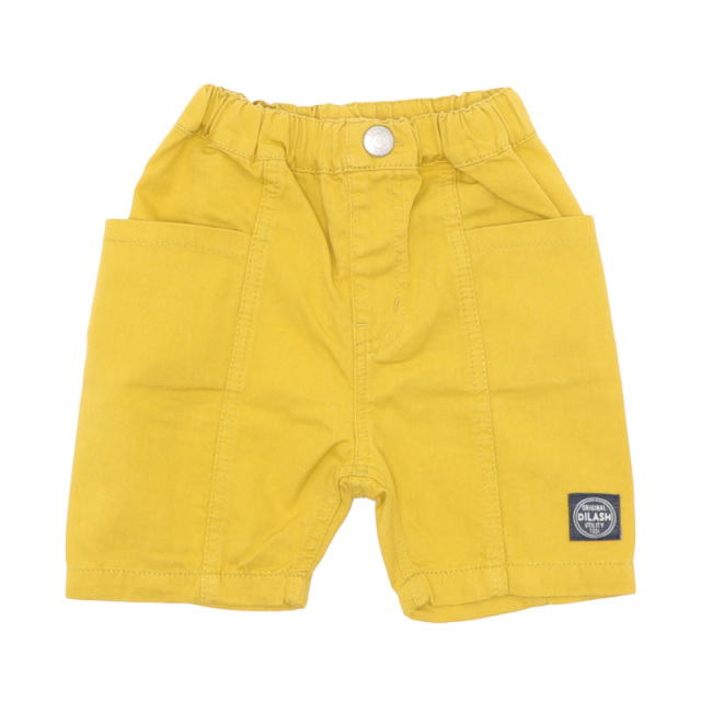 dil-DL20ES121_YE BIGポケット キャンバスハーフパンツ [YE.イエロー] 【DILASH】【夏物】