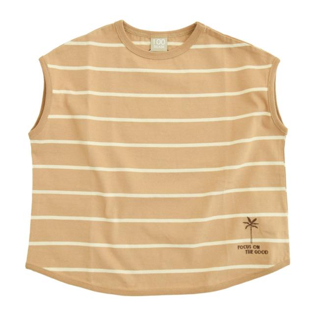dil-DL20MS007_BE 先染めボーダー 半袖Tシャツ [BE.ベージュ] 【DILASH】【夏物】