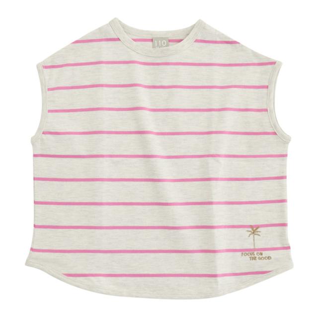 dil-DL20MS007_PK 先染めボーダー 半袖Tシャツ [PK.ピンク] 【DILASH】【夏物】
