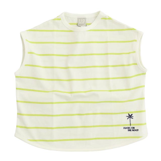 dil-DL20MS007_RM 先染めボーダー 半袖Tシャツ [RM.ライム] 【DILASH】【夏物】
